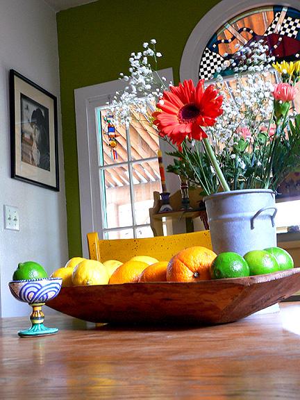Flowers lemons limes