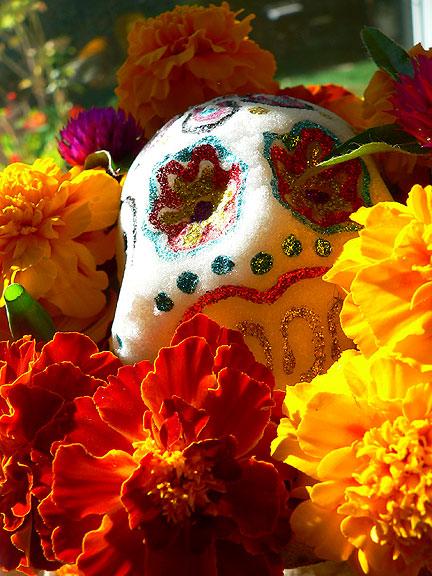 Marigolds-skull